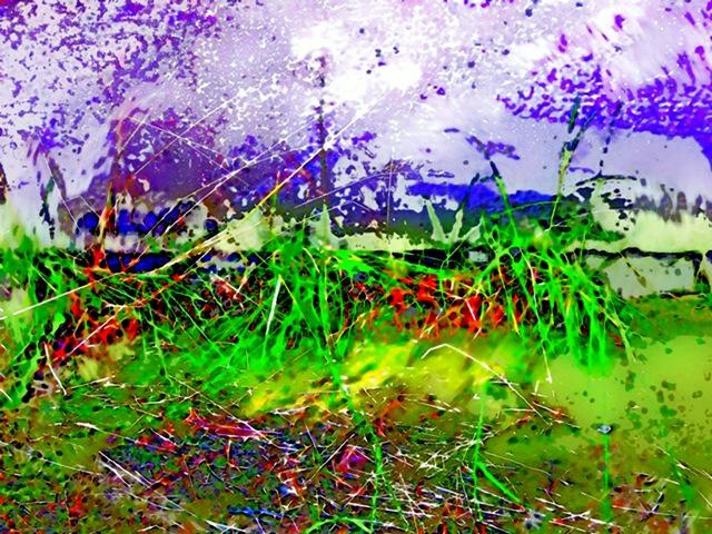 digital painting THE CAUGHT GLIMPSE  by Tomas Karkalas; Klaipeda,Lithuania