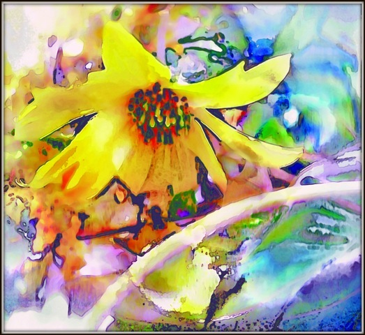 last glimpse - digital photo-painting by Tomas Karkalas