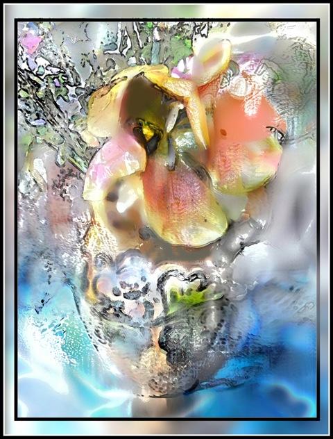 digital painting Self-portrait In disguise as a flower/Tomas Karkalas